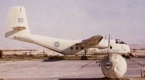 115 ATU de Havilland (CC-108) Caribou at El Arish. Photograph courtesy of Garry Harding.