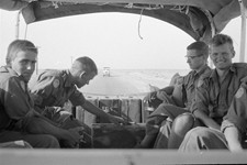 Return from Sharm El Sheikh with Swedish Battalion troops - taken out the back window of my UNEF 937. Photo courtesy of Bob Fraser