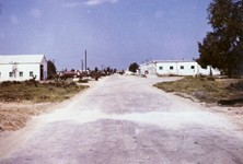 Photo courtesy of Garry Harding - Rafah QM and Firehall with Camp Gate in distance 1967