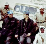 Robert Ashton with colleague and Egyptian soldiers.  Photo courtesy of Robert Ashton